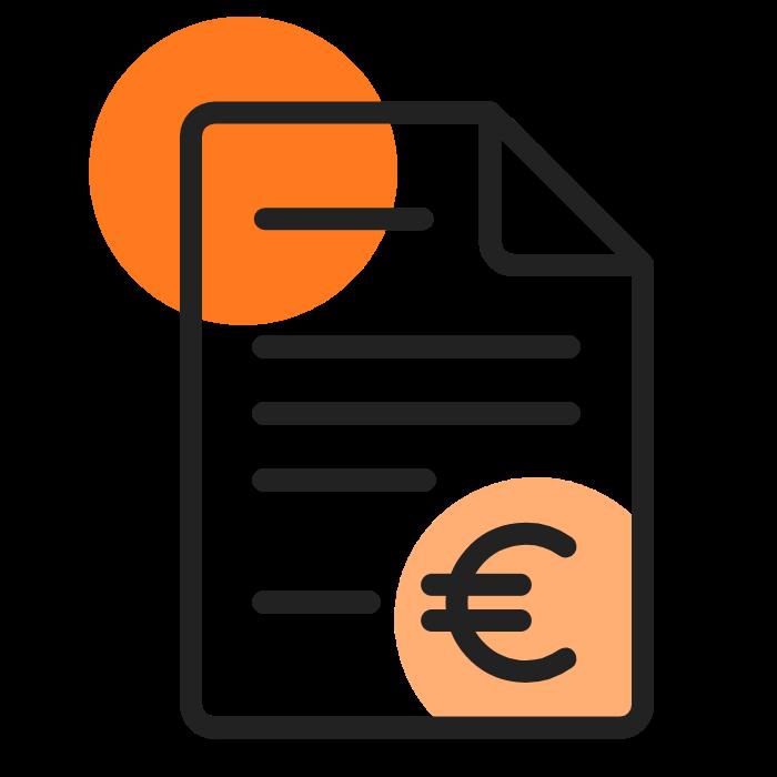 facture sombre orange