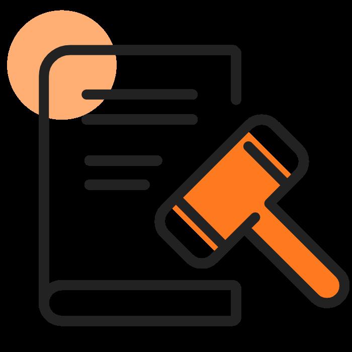 livre-juridique sombre orange